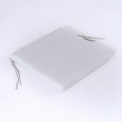 Cojín para exterior asiento olefín gris claro