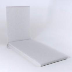 Cojín para exterior tumbona olefín gris claro