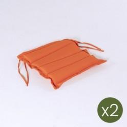Cojín para jardín estándar 37 cm naranja - Pack 2 unidades