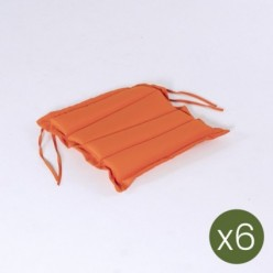 Cojín para jardín estándar naranja 37 cm - Pack 6 unidades