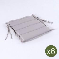 Cojín de exterior estándar piedra 37 cm - Pack 6 unidades