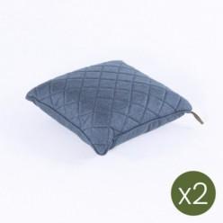 Cojín decorativo para exterior 40x40 olefín azul - Pack 2 unidades
