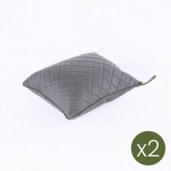 Cojín decorativo de jardín 40x40 olefín gris - Pack 2 unidades