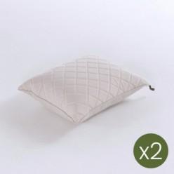 Cojín decorativo de exterior 40x50 olefín crudo - Pack 2 unidades