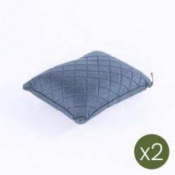 Cojín decorativo para exterior 40x50 olefín azul - Pack 2 unidades