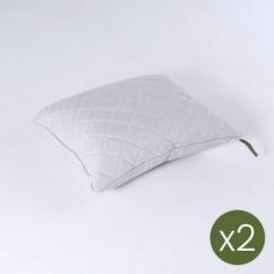 Cojín decorativo para jardín 40x50 olefín gris claro - Pack 2 unidades