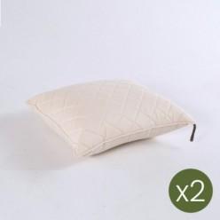 Cojín decorativo estándar de exterior 40x50 color crema- Pack 2 unidades