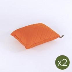 Cojín decorativo para exterior estándar 40x50 color naranja - Pack 2 unidades