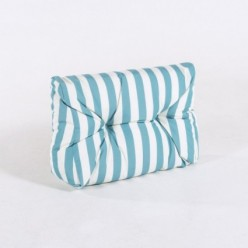 Cojín esquina de sofá de palet estándar rayas turquesa