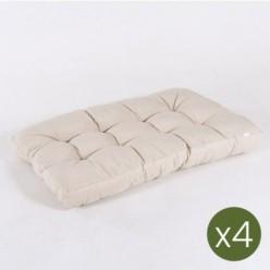Cojines para palets asiento vainilla - Pack 4 unidades