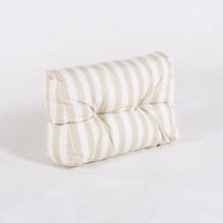 Cojín esquina de sofá de palet estándar rayas vainilla