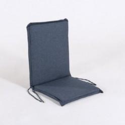 Cojín posiciones silla teca para jardín olefín azul