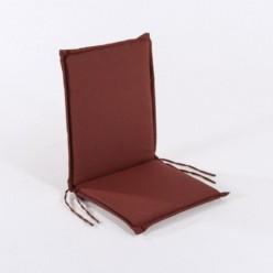 Cojín posiciones silla de teca para jardín olefin rojo