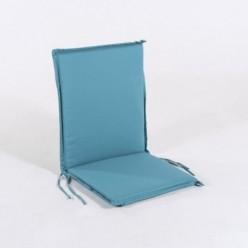 Cojín posiciones silla teca para jardín estándar turquesa