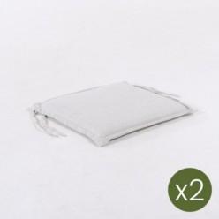 Cojín para silla de teca de jardín olefin  gris claro - Pack 2 unidades