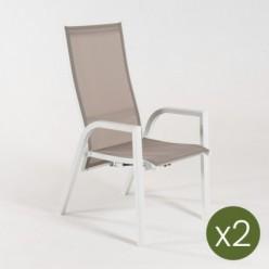 Sillón reclinable para jardín Laver - Pack 2 unidades