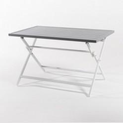 Mesa de Aluminio de exterior plegable 120 cm Laver