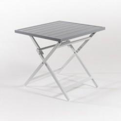 Mesa de aluminio de jardín plegable 70 cm Laver
