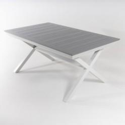 Mesa para exterior de pies en X extensible 170-240 de aluminio Silver-Laver