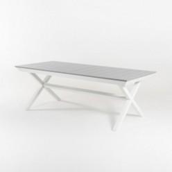 Mesa para exterior extensible 215-295 con piés en X silver-laver