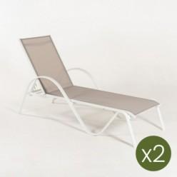 Tumbonas para jardín reclinable Laver - Pack 2 unidades