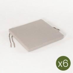 Cojín asiento de jardín lux capuccino - Pack 6 unidades