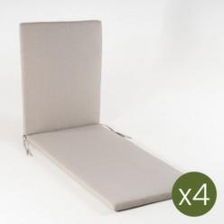 Cojín tumbona de jardín lux capuccino - Pack 4 unidades