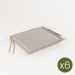 Cojín para silla de teca para jardín lux capuccino - Pack 6 unidades