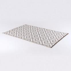 Alfombra para jardín 90x150 cm Nirvana color blanco y taupe