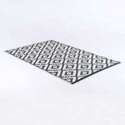 Alfombra de exterior 180x270 cm Nirvana color negro y blanco