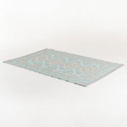 Alfombra de exterior 180x270 cm Kazak color azul claro y gris claro