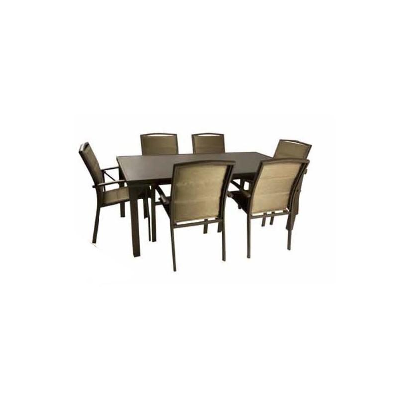 Mesa de aluminio de exterior outlet en mobiliario de for Muebles de jardin de aluminio