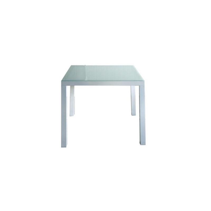 Mesa para exterior 80 cheyenne for Muebles exterior aluminio blanco
