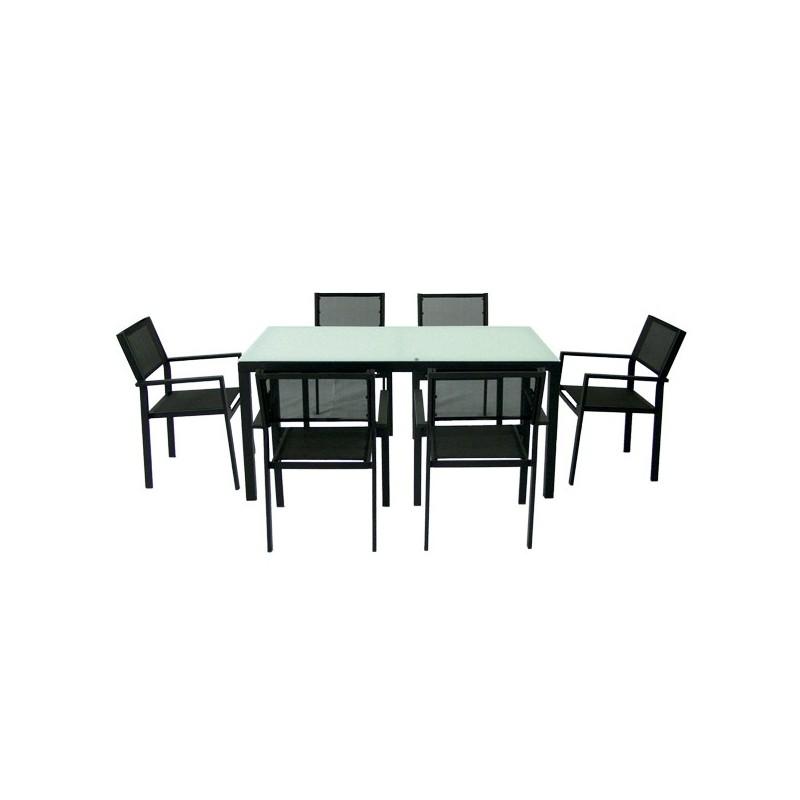 Conjunto mesa y 6 sillones para exterior for Conjunto mesa y sillas exterior