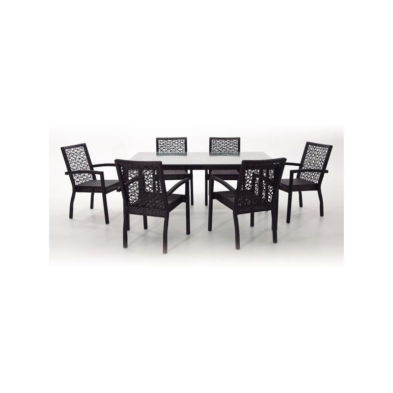Conjunto mesa y 6 sillones para terraza san antonio for Sillones para terrazas precios