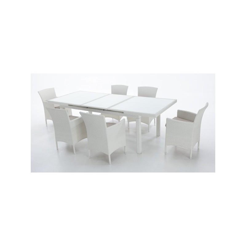 Mesa en aluminio de exterior online oferta de mesas de for Conjunto mesa y sillas jardin oferta