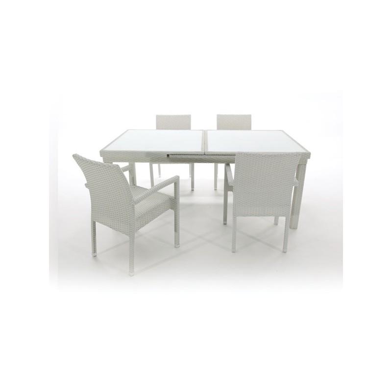 Conjunto mesa y 4 sillones para terraza santa ana for Conjunto mesa y sillas jardin oferta
