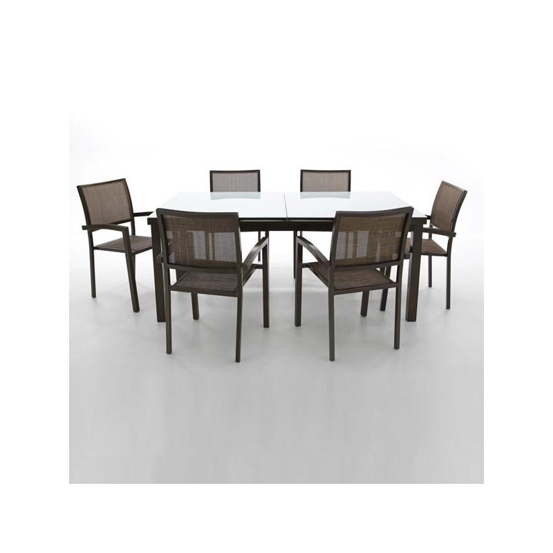 Venta online de mobiliario de exterior oferta de mesas for Muebles de jardin de aluminio precios