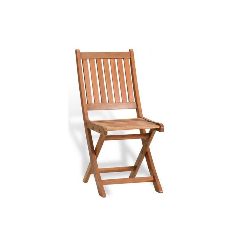 Silla para jardin de madera tropical colorado for Sillones de jardin de madera