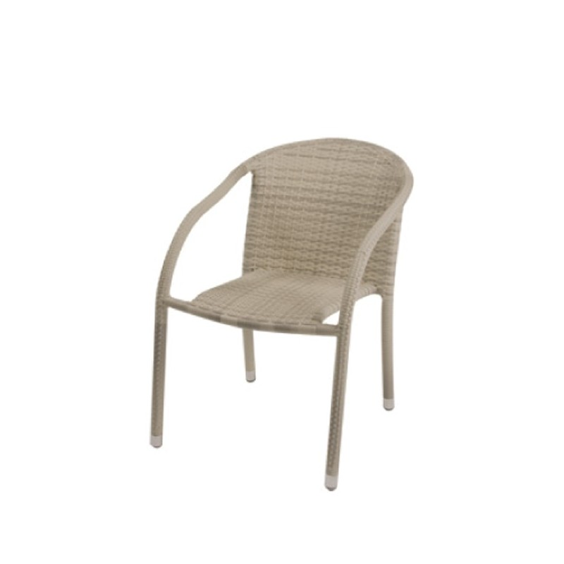 Sillon para terraza beige henderson for Outlet muebles jardin