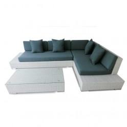 Conjunto sofás de jardín fibra Nevada