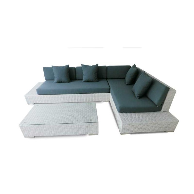 Conjunto sofas de jardin fibra nevada for Conjuntos de jardin ikea