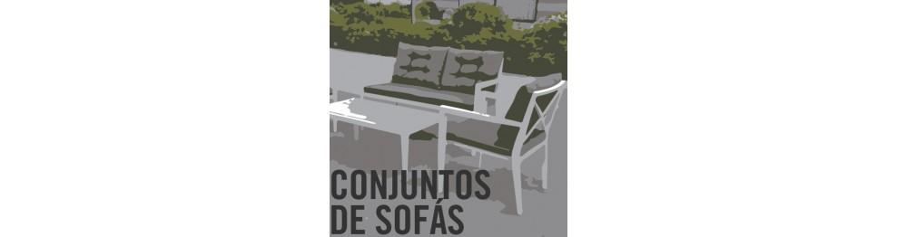 Conjuntos sofás jardín