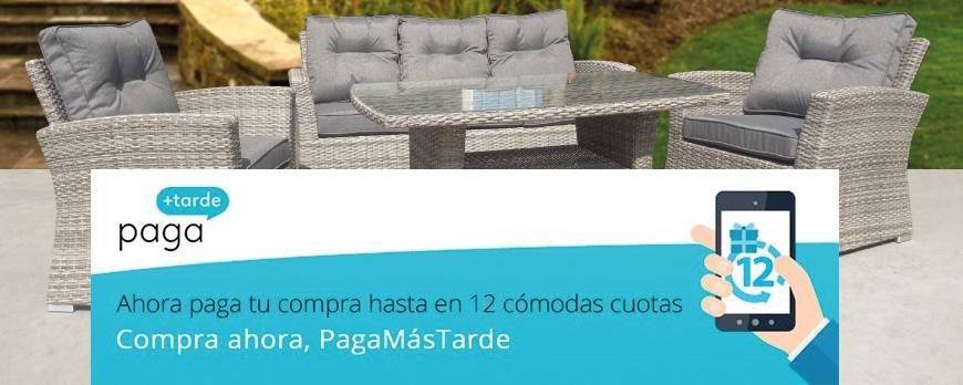 Paga mas tarde tus muebles de jardín!