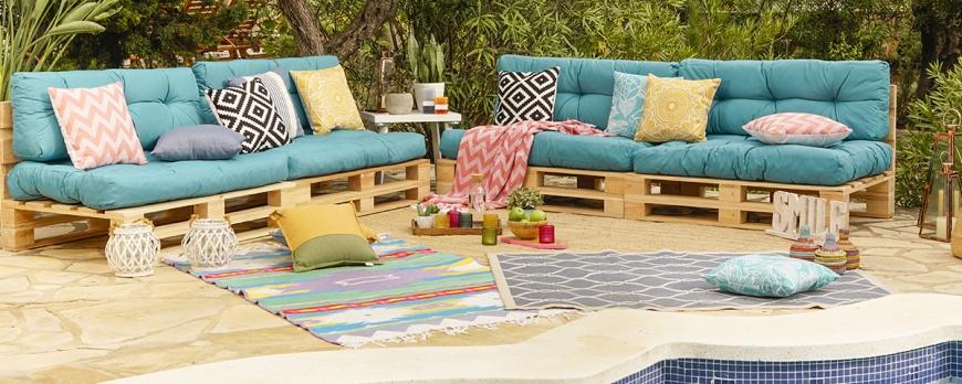 Consigue la terraza de tus sueños con palets